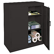 Realspace 3 Shelf Metal Storage Cabinet