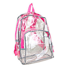 Eastsport Clear PVC Backpack Pink