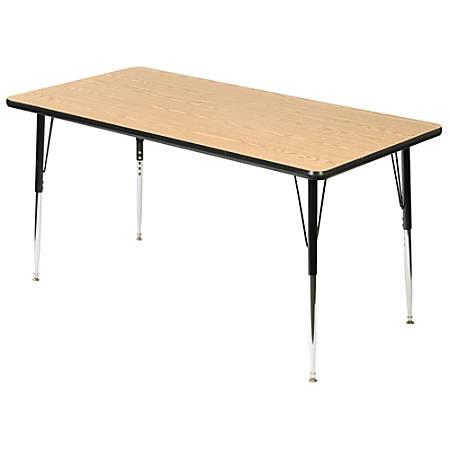 "Scholar Craft™ Student Activity Table, Rectangular, 72""W x 30""D, Light Oak"