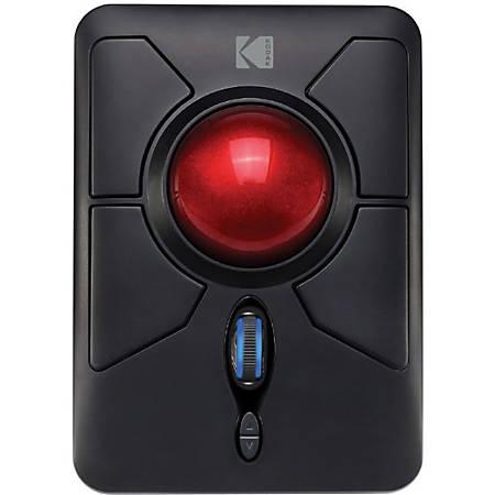 Kodak IMOUSE Q50 Wireless Ergonomic Trackball Mouse - Optical - Wireless - Radio Frequency - 1 Pack - USB - 4800 dpi - Scroll Wheel - 7 Button(s) - Symmetrical