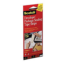 Scotch EnvelopePackage Sealing Tape Strips 1