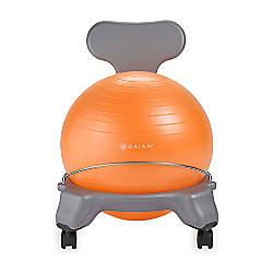 Gaiam Kids Balance Ball Chair GrayOrange