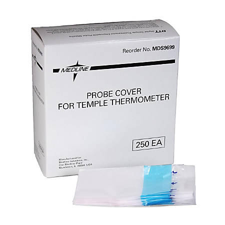 Medline Temple Thermometers Probe Covers, MDS9699, Box Of 250