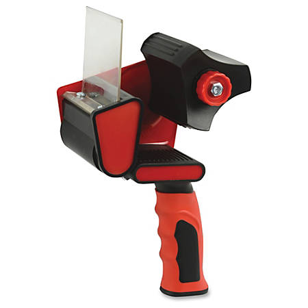 "Sparco Handheld Tape Dispenser - 3"" Core - Refillable - Ergonomic Design, Adjustable Tension Mechanism, Durable - Red, Black"