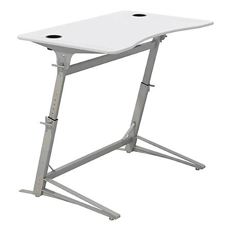 Safco® Verve™ Standing Desk With 2 Cup Holders, White