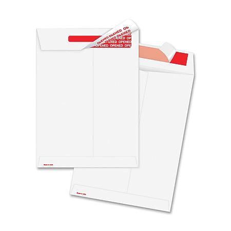 "Survivor® Tyvek® Tamper-Indicator Envelopes, 10"" x 13"", White, Box Of 100"