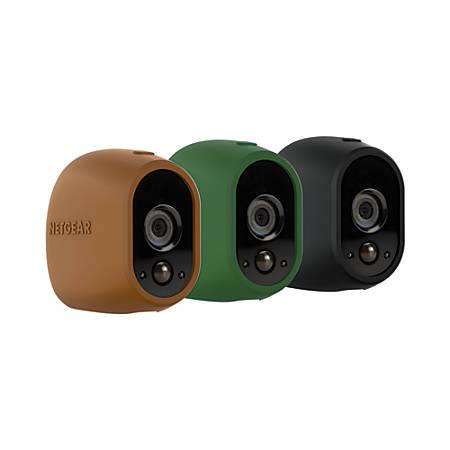 Arlo Wireless Camera Cases, Brown/Grey/Black, Pack Of 3
