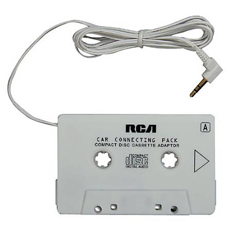 RCA Audio Cassette Adapter - Yes - White