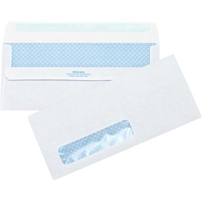 Business Source No 10 Standard Window Invoice Envelopes - Single Window -  #10 - 9 1/2