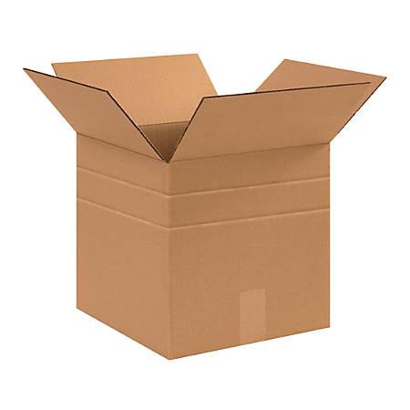 "Office Depot® Brand Multi-Depth Corrugated Cartons, 12"" x 12"" x 12"", Scored 10"", 8"", Kraft, Pack Of 25"