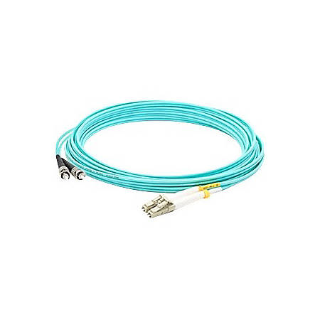 AddOn 8m LC (Male) to ST (Male) Aqua OM4 Duplex Fiber OFNR (Riser-Rated) Patch Cable