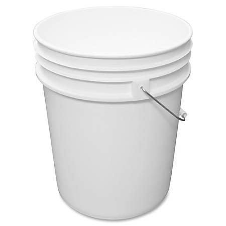 "Impact Products 5-gallon Utility Pail - 20 quart - 14.5"" - Steel, Plastic, Polyethylene - White"