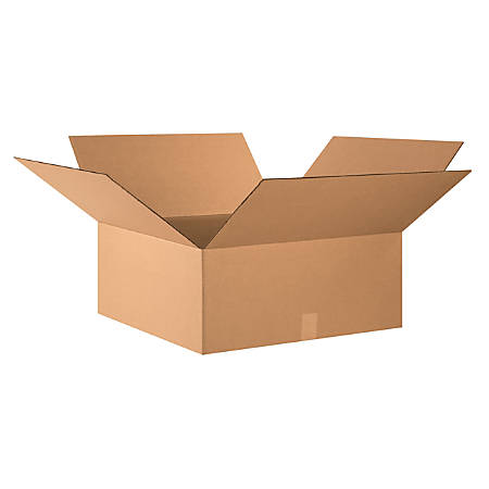 "Office Depot® Brand Corrugated Cartons, 24"" x 24"" x 10"", Kraft, Pack Of 10"