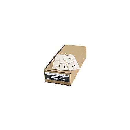 "Avery® Duplicate Auto Park Tags, Strung, 4 3/4"" x 2 3/8"", Manila, Box Of 500"