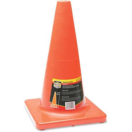 "Honeywell Orange Traffic Cone - 1 Each - 18"" Height - Cone Shape - Fade Resistant, Long Lasting, UV Resistant - Orange"