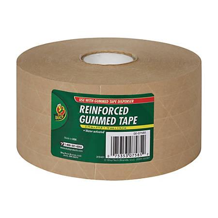 """Duck® Reinforced Kraft Gummed Paper Tape, 2 3/4"""" x 125 Yd."""