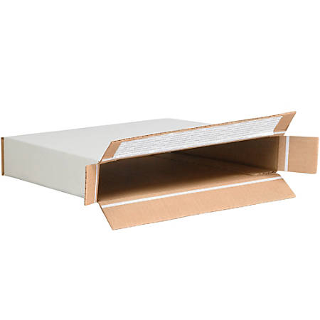 "Office Depot® Brand White Self-Seal Side-Loading Corrugated Cartons, 10 7/8"" x 2"" x 12 1/4"", Pack Of 25"