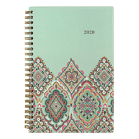 """AT-A-GLANCE® Marrakesh Weekly/Monthly Planner, 4-7/8"""" x 8"""", 30% Recycled, Multicolor, January To December 2020, AAG182200"""
