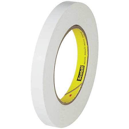 "3M™ 256 Flatback Tape, 3"" Core, 0.5"" x 60 Yd., White, Case Of 12"
