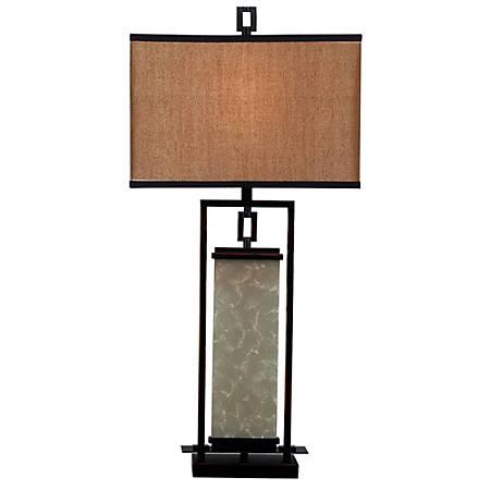 Kenroy Plateau Table Lamp, Bronze/Gold