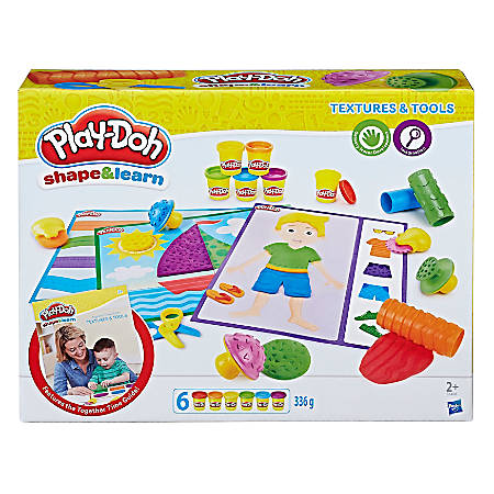 Play-Doh® Education Shape And Learn Textures And Tools Set, Assorted Colors, Case Of 4 Sets