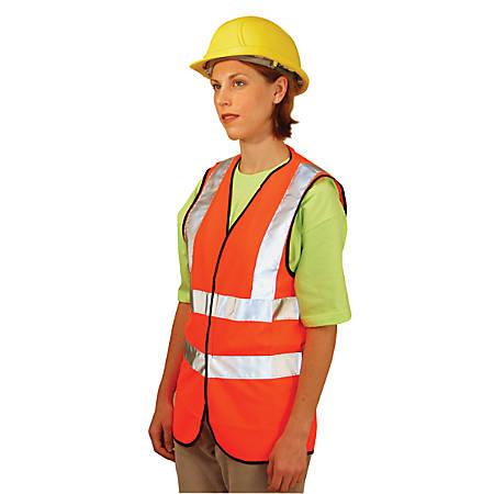 Class 2 Solid Vests with 3M Scotchlite Reflective Tape, Large, Hi-Viz Yellow
