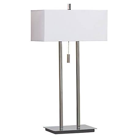 Kenroy Emilio Table Lamp, Chrome/White