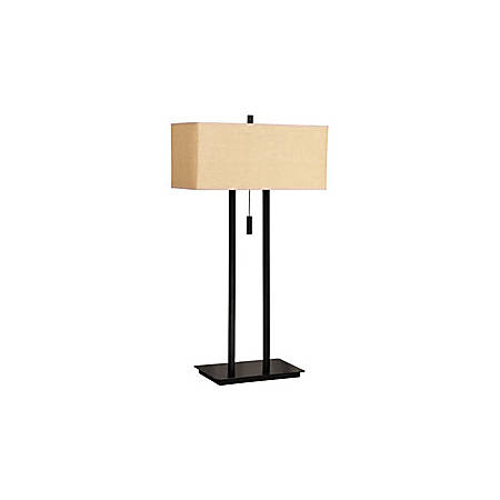 Kenroy Emilio Table Lamp, Bronze/Tan