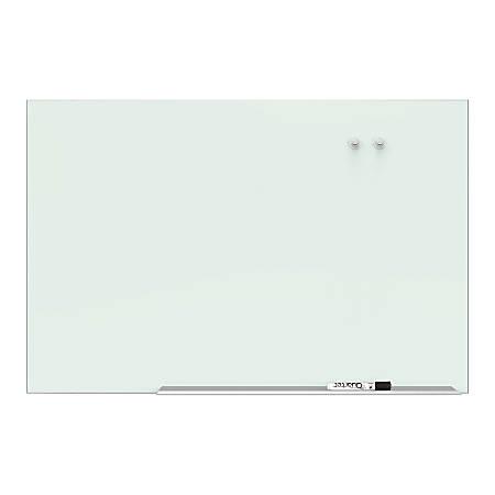 """Quartet Element™ Framed Magnetic Glass Dry-Erase Board, 85"""" x 48"""", Aluminum Frame"""