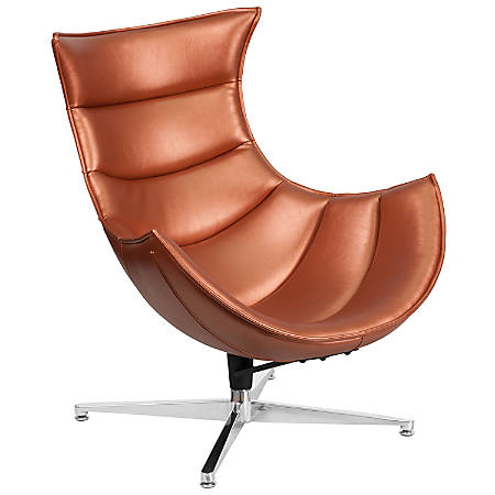 Flash Furniture Cocoon Swivel Chair, Copper/Silver