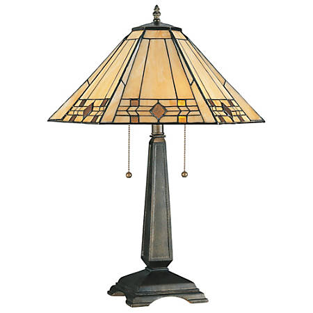 Kenroy Willow Table Lamp, Bronze/Honey/Amber