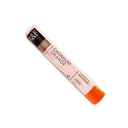 R & F Handmade Paints Pigment Sticks, 38 mL, Cadmium Orange