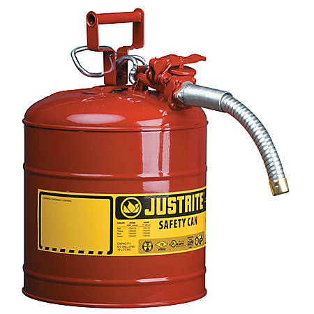Type II AccuFlow Safety Cans, Flammables, 1 gal, Red