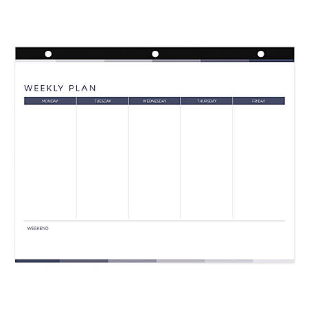 "Blueline® Coloring Weekly Desk Pad Calendar, 11"" x 8-1/2"""
