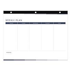 Blueline Coloring Weekly Desk Pad Calendar