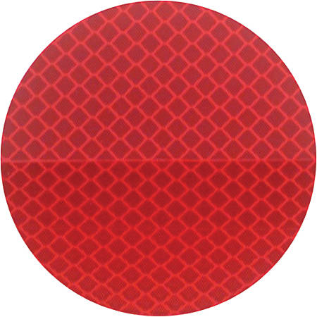 "3M™ 989 Reflective Labels, 3"" x 3"", Red, Case Of 50"