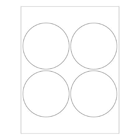 "Office Depot® Brand Glossy Circle Laser Labels, LL305, 4"", White, Pack Of 400 Labels"