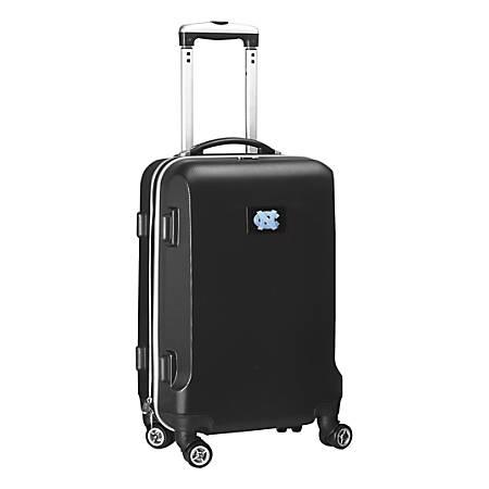 "Denco Sports Luggage Rolling Carry-On Hard Case, 20"" x 9"" x 13 1/2"", Black, North Carolina Tar Heels"