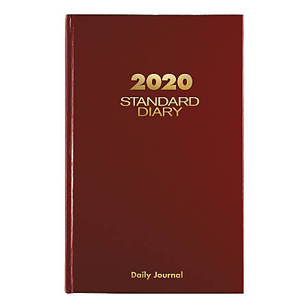 "AT-A-GLANCE® Standard Diary Daily Diary/Address Book, 7-3/4"" x 12"", Red, January To December 2020, SD37713"