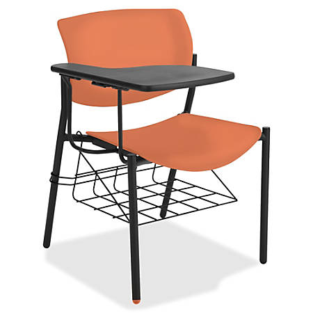 Lorell® Classroom Student Combo Desk, Tablet-Arm, Orange/Black