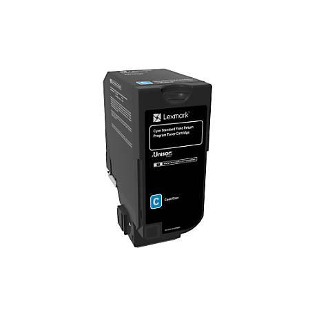 Lexmark™ Unison Return Program Toner Cartridge, 74C1SC0, Cyan