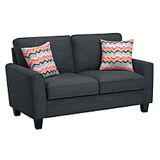 Serta Astoria Deep Seating Loveseat CharcoalEspresso