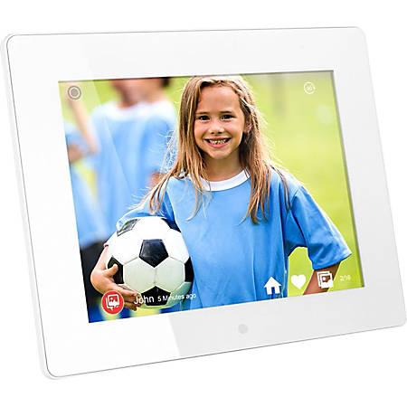 Aluratek AWDMPF8BB Digital Frame - 8 LCD Digital Frame - Black - 1024 x 768 - Cable/Wireless - 4:3 - USB - Wireless LAN - Wall Mountable, Desktop