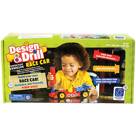 Educational Insight Design & Drill® Power Play Vehicles™ Race Car Set, Multicolor, Pre-K To Grade 1