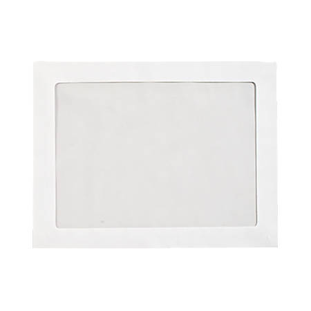 """LUX Full-Face Window Envelopes With Moisture Closure, #93, 9 1/2"""" x 12 1/2"""", Bright White, Pack Of 500"""