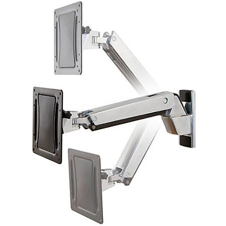 "Ergotron Mounting Arm for Flat Panel Display - Polished Aluminum, Black - 30"" to 55"" Screen Support - 40 lb Load Capacity"