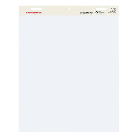 Office Depot® Brand Standard Easel Pads, 30% Recycled, Pack Of 2