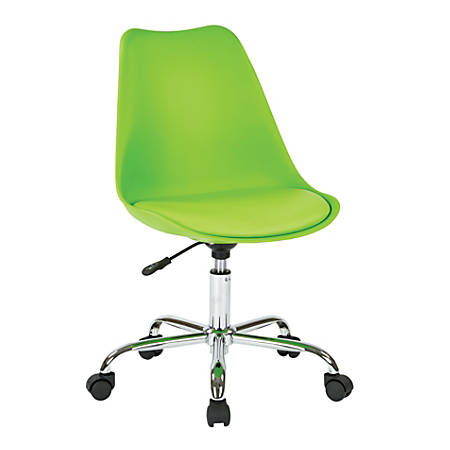 Ave Six Emerson Mid-Back Chair, Green/Silver