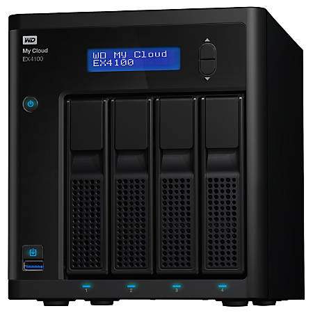 WD My Cloud Business Series EX4100, 24TB, 4-Bay Pre-configured NAS with WD Red™ Drives