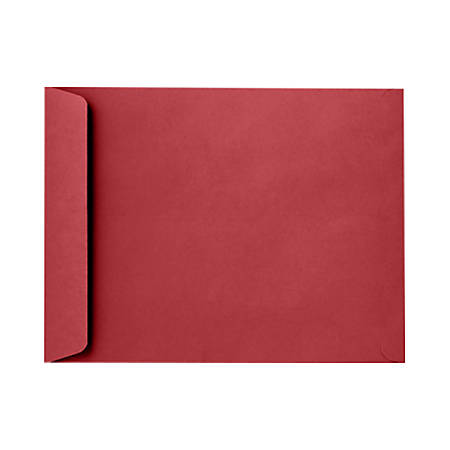 """LUX Open-End Envelopes With Peel & Press Closure, #9 1/2, 9"""" x 12"""", Ruby Red, Pack Of 1,000"""